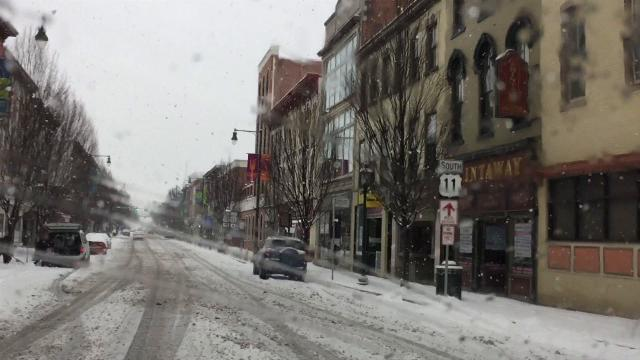 Take a cruise through parts of Chambersburg during Sunday's snow on Feb. 4, 2018. The snow stopped in the area around 3pm, leaving a few inches