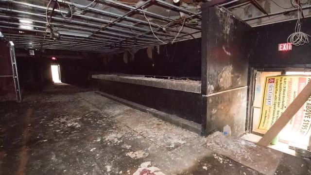 Explore the wrecked interior of a former York nightclub