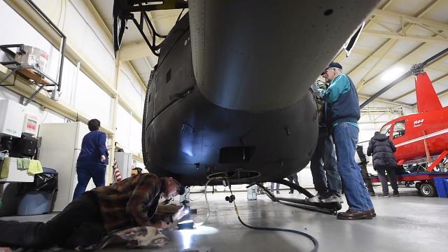 Members of the non-profit group, the Liberty War Birds, have spent the past three years working to restore a helicopter to raise money and help out Vietnam vets.