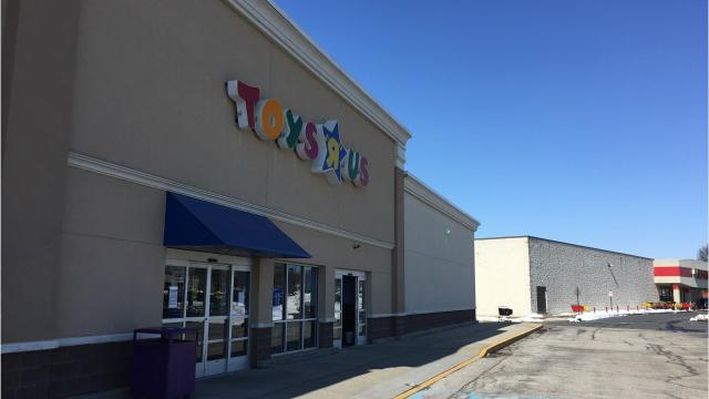 Many items at the Toys R Us in York County were 10 percent off Friday, March 23, 2018.