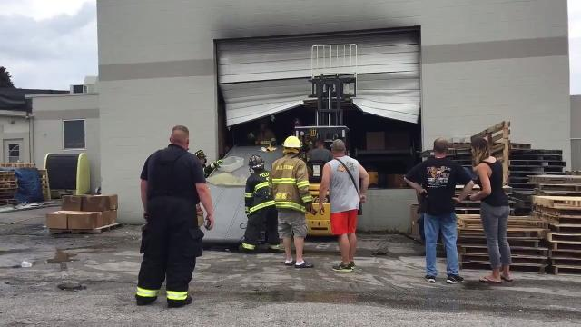 VIDEO: Fire at Custom Molds-Plastics, Inc.,  in Red Lion
