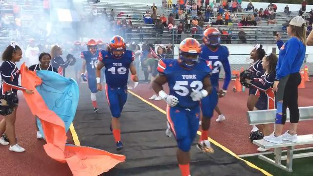 VIDEO: York High wins 48-28 over Cedar Cliff football week 3