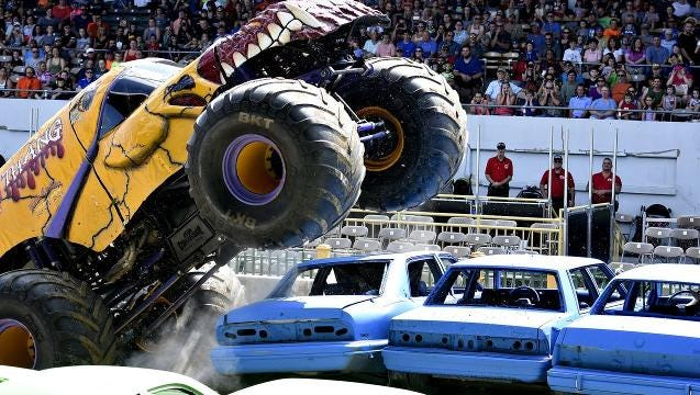 VIDEO: Monster Truck Fall Bash