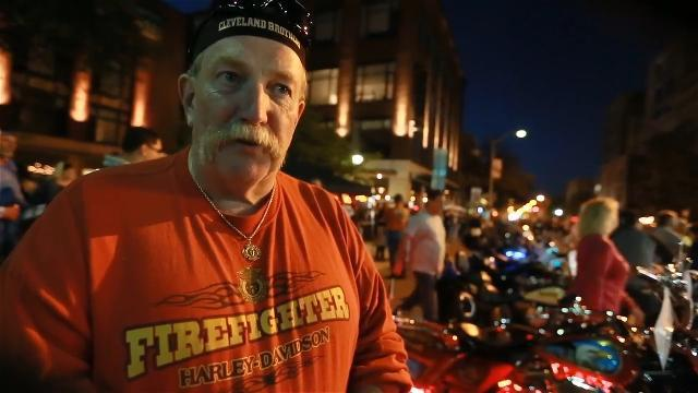 VIDEO: Firefighter shrine bike at York Bike Night