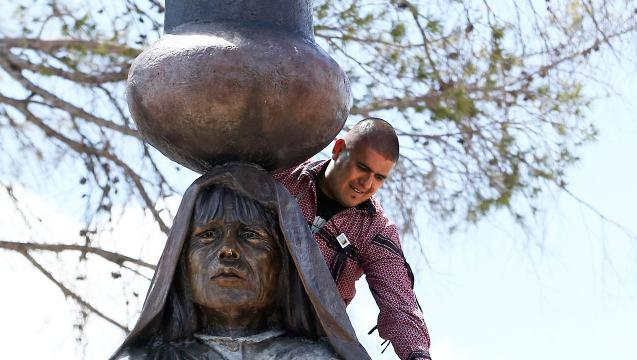 Ysleta Del Sur Pueblo Statue Dedication