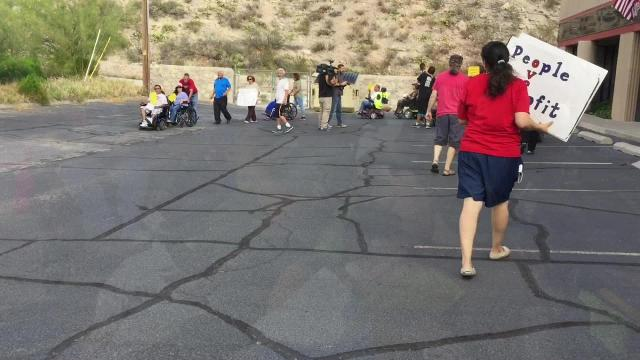 Protest for Medicaid cuts ends at  El Paso Republican HQ