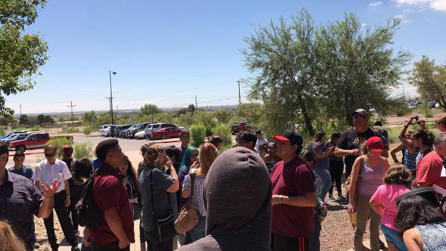 Students at El Paso Community College's Transmountain campus got some last second-tips on viewing the eclipse.