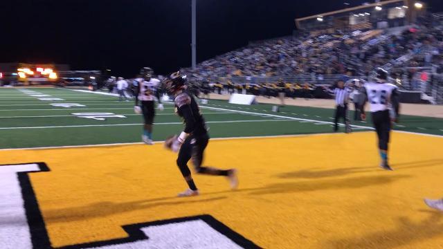 Alamogordo sophomore Julio Mendoza caught a 20-yard touchdown pass from sophomore Jacob Waldman on Friday night Tiger Stadium.
