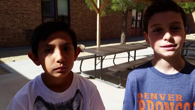 Highland Elementary School fifth-graders Josiah Barrera, left, performed the Heimlich maneuver on his best friend, Max Miller, right, while they were at lunch Thursday, Nov. 2, 2017.