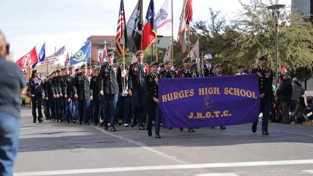 Thousands of El Pasoans were on hand at the Veteran's Day Parade in downtown El Paso Saturday to thank veterans for their service.