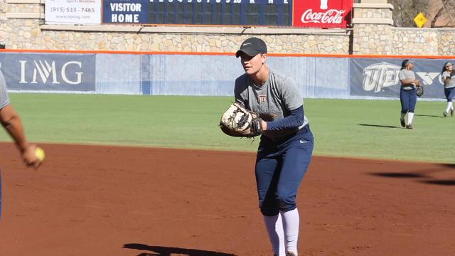 Courtney Clayton, Kaitlin Ryder and Taylor Sargent prepare to enter their final season as members of the UTEP softball season.