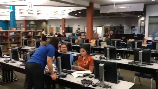 Pebble Hills HS Students train to help in tax preparation