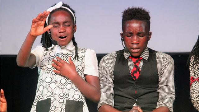 """The Watoto Children's Choir from Kampala, Uganda brought their musical production """"Signs and Wonders"""" to Calvary Chapel in Alamogordo Wednesday to share their message of hope for Africa's orphans and widows."""