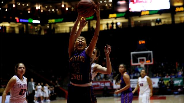 Los Lunas too much for Kirtland Central on both sides of the floor Thursday in Albuquerque.