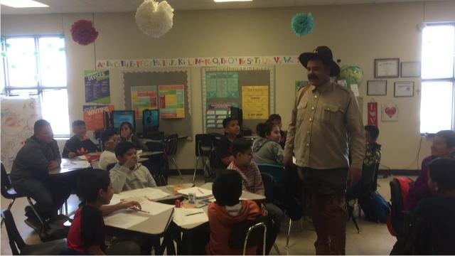 Pancho Villa dropped by Columbus Elementary School to celebrate the 102nd anniversary of the 1916 raid on Columbus, New Mexico.