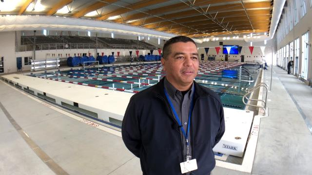 City of El Paso Construction Superintendent Gilbert Guerrero talks about the features of the new west side swimming pool and how final preparations are underway for the grand opening on April 7th.