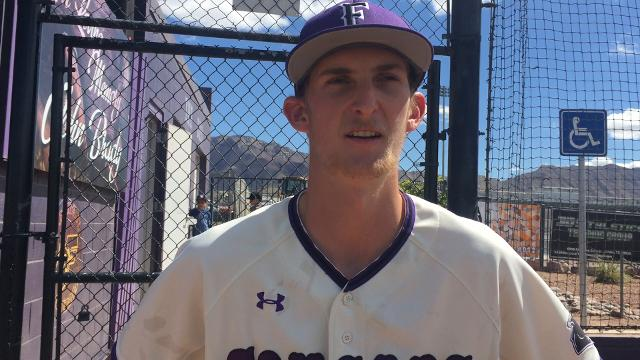 Franklin High School pitcher Branden Voytko talks about the Cougars' 6-5 win vs. Pebble Hills on Saturday.