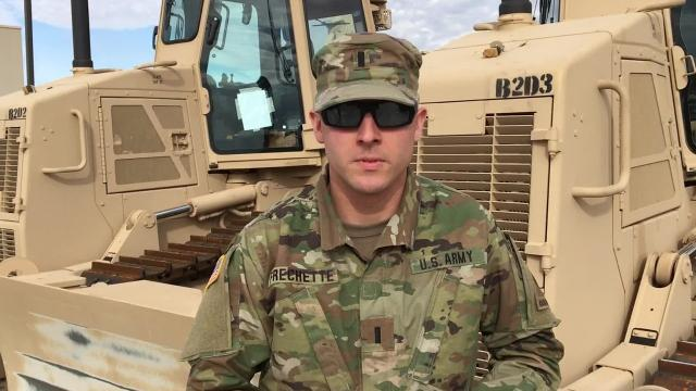 First Lt. Greg Frechette, with the 16th Engineer Battalion, says it was an honor to be among the top two teams at the recent Iron Sapper competition at Fort Bliss.