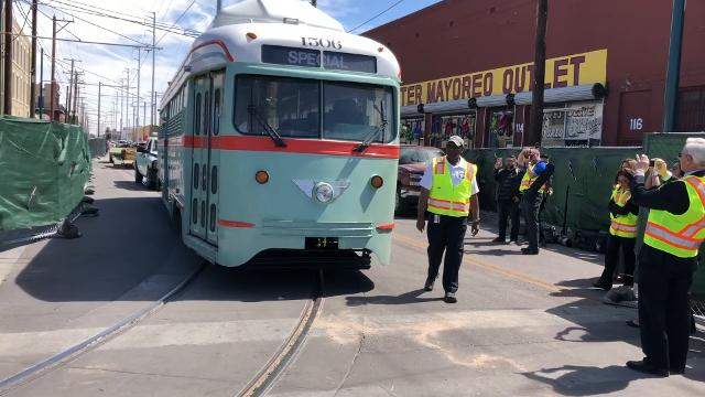 Follow the journey of Streetcar 1506 from being dug out of the desert to returning to El Paso on Monday.