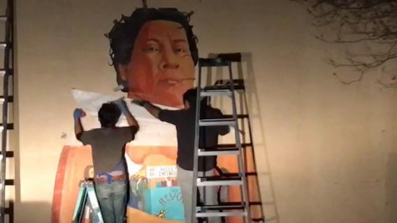 "Oscar ""Zeta"" Acosta mural installation"