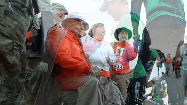 A thank you to Bataan Death March survivor Ben Skardon. He continues to participate in the annual Bataan Memorial Death March at age 100.