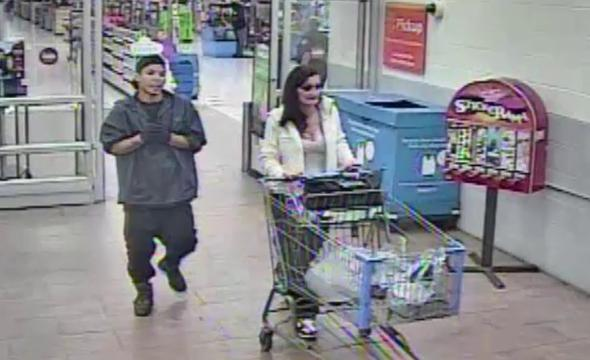 Las Cruces Crime Stoppers is offering a reward of up to $1,000 for information that helps identify the young man and woman suspected of fraudulently using a stolen credit card at a Walmart store.