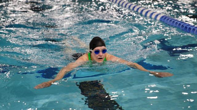 Four area competitors push back and forth in breaststroke, backstroke and butterfly events Monday at Farmington Aquatics Center.