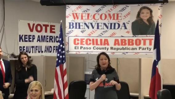 First Lady of Texas Cecilia Abbott stops by the El Paso Republican Party to thank volunteers for their efforts in supporting Gov. Greg Abbott