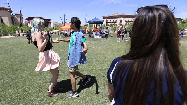 UTEP held their inaugural MinerFest event Wednesday at Centennial Plaza.