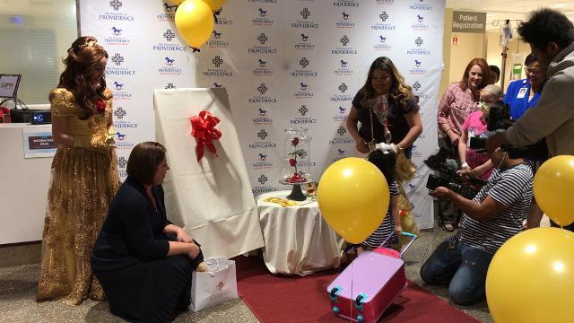 Fernanda Herrera, 3, a liver transplant survivor is headed to Disney World thanks to Make a Wish Foundation grant.