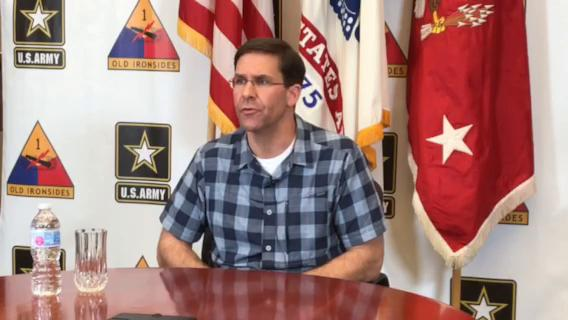 Secretary of the Army Mark T. Esper visits Fort Bliss