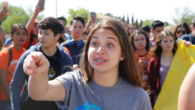 El Paso students took part in a nationwide protest against gun violence Friday. The protest came on the anniversary of the April 20, 1999, massacre in Columbine High School in Littleton, Colo., in which 13 people were killed and more than 20 injured.
