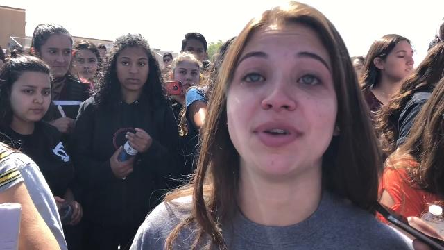 Eastwood Senior Sonia Acosta Speaks At National School Walkout