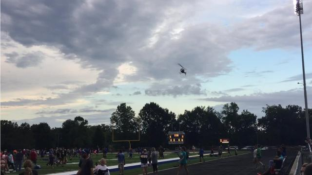 One of the new additions to BomberFest for 2017 was a ball drop for children. Watch the BCSO helicopter drop balls on the new turf of Bomber Stadium.