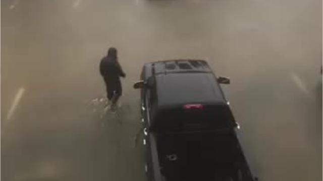 Crystal and Rocky Parnell provided this video of flooding in the Houston area