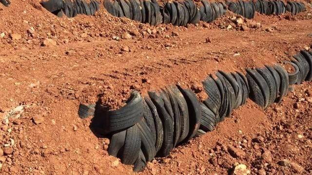 Damco's great wall of tires