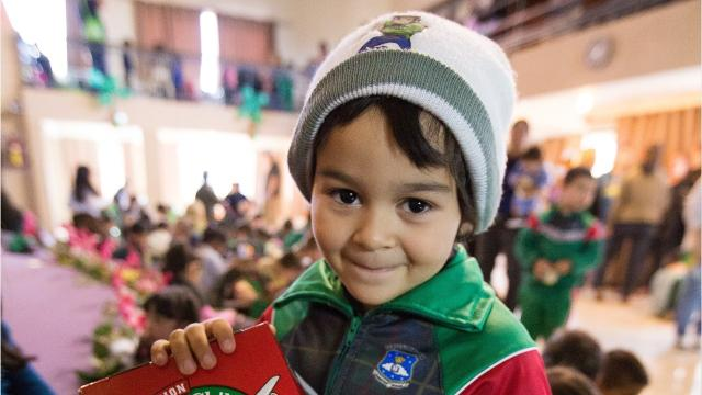 Samaritan's Purse helps children throughout the world have a Christmas gift