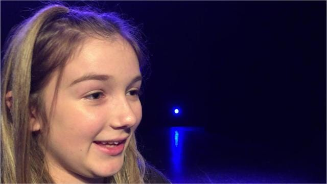 Mica Kirby, 12, will compete in a dance competition in Poland. She had to audition to get on the team.