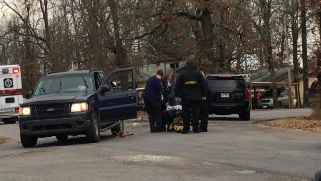 The Baxter County Sheriff's Office and other emergency personnel responded Tuesday morning to a shooting call on Old Military Road. At least one person was shot.