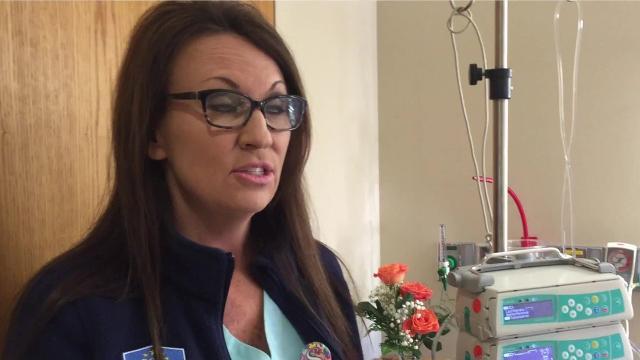 Baxter Regional Medical Center Chief Nursing Officer Shannon Nachtigal explains how the hospital conserves IV fluid.