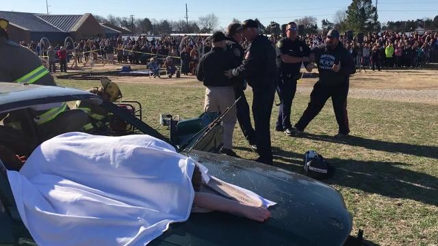 Students at MHHS witnessed a demonstration showing the consequences of drunk driving.
