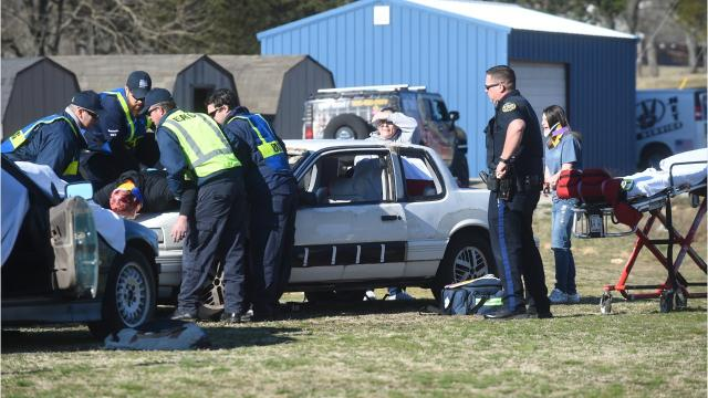 """Mountain Home High School students watched a program called """"Last Dance"""" that uses a simulated fatal car crash to show students what could happen if they choose to drink and drive."""