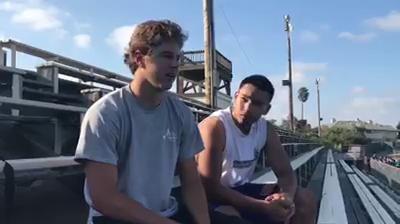 Salinas quarterback Brett Reade and running back Richard Cerda discuss the Cowboys' upcoming football season.