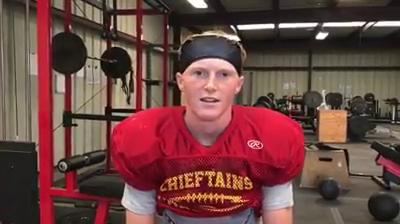 Palma wide receiver, free safety Dominic Scattini talks about the upcoming season for the Chieftains.
