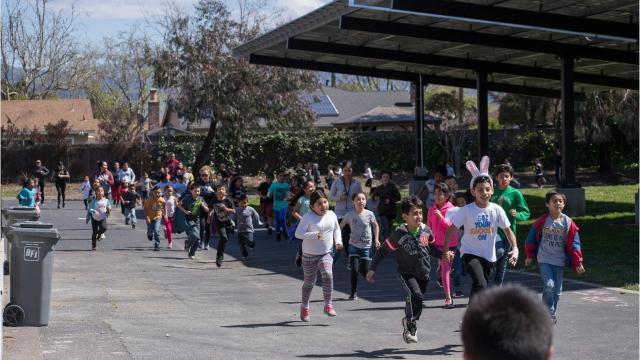 JUST RUN celebrates milestone at Santa Rita Elementary School