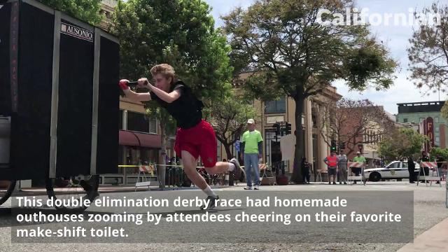 The Salinas Rotary Downtown Club held its third annual Race of Thrones Crapper Derby on Saturday morning.