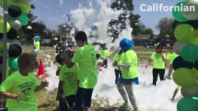 Students participated in their Martian Mini-Marathon Foam Run fundraiser Friday afternoon to raise money for STEAM (Science, Technology, Engineering, Arts and Math) projects at the school.