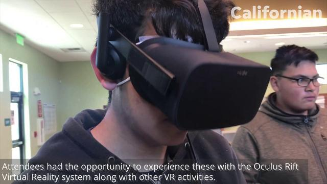 Cesar Chavez library had a VR party that allowed teens to use the Oculus VR set.