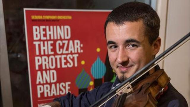 """Visalia native Maxton Vieira and the rest of the Sequoia Symphony Orchestra are hoping to create that floating feeling with its latest classic concerts """"Behind The Czar: Protest and Praise."""""""