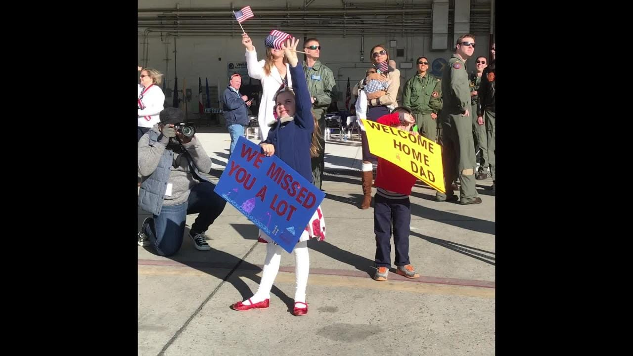 Three Naval Air Station Lemoore based squadrons come home just in time for Christmas.